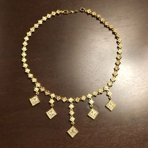 🍓 gold diamonds short necklace 🍓